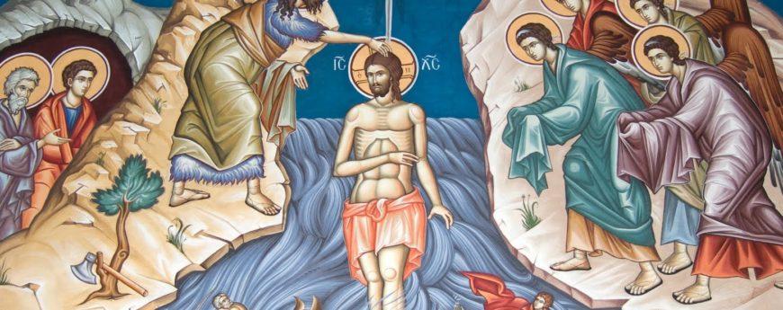 Battesimo Gesù bizzantino